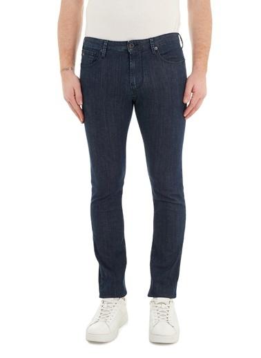 Emporio Armani  Slim Fit Cepli Pamuklu J06 Jeans Erkek Kot Pantolon 3K1J06 1D5Pz 0942 Lacivert